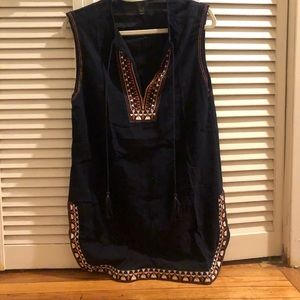 J. Crew Embroidered Swim Cover-Up